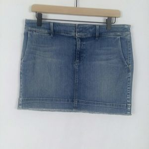 Loft raw hem denim mini skirt size 29 / 8 p
